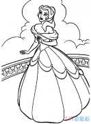 简单漂亮的贝儿公主怎么画_贝儿公主简笔画图片