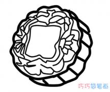 中秋月饼怎么画简单又漂亮_月饼简笔画图片