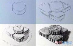 素描一盘中秋月饼怎么画_月饼简笔画图片