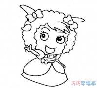 卡通喜羊羊和美羊羊怎么画_喜羊羊简笔画图片
