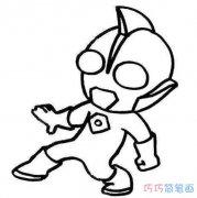 幼儿卡通咸蛋超人怎么画_奥特曼简笔画图片