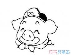 卡通猪八戒头像怎么画简单_猪八戒简笔画图片