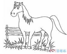 西游记白龙马怎么画_白龙马简笔画图片