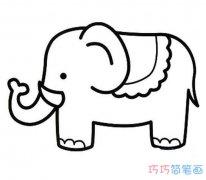 儿童卡通大象的画法简单_大象简笔画图片