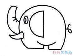 幼儿卡通大象的画法_胖大象简笔画图片