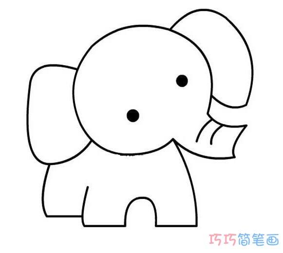 简单可爱小象怎么画 大象简笔画图片 小手画堂