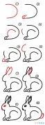 超简单卡通小兔子画法步骤_兔子简笔画图片