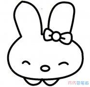 超可爱小兔子卡通头像画法_小白兔简笔画图片