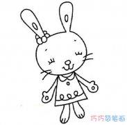 儿童画简单又可爱的兔子_兔子简笔画图片