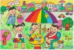 优秀的绿色环保家园怎么画_绿色家园儿童画图片