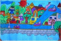 绿色家园你我共创怎么画_绿色家园儿童画图片