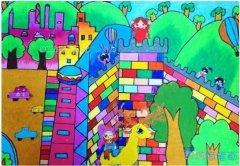 绿色城堡怎么画好看_绿色家园儿童画图片