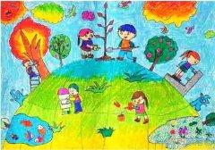 保护绿色家园怎么画好看_绿色家园儿童画图片