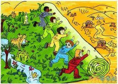 保护环境优秀儿童画作品_绿色家园儿童画图片