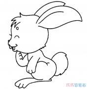 儿童卡通小白兔怎么画_小白兔简笔画图片