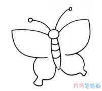 可爱卡通蝴蝶简笔画_可爱蝴蝶简笔画图片