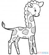 儿童可爱的梅花鹿怎么画_长颈鹿简笔画图片