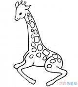 幼儿小长颈鹿怎么画_长颈鹿儿童简笔画图片
