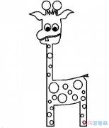 如何画出超简单的长颈鹿_长颈鹿简笔画