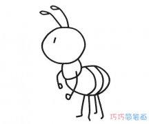 儿童卡通小蚂蚁怎么画简单_蚂蚁简笔画