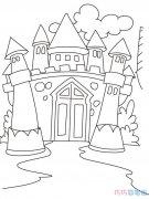 简单哥特式城堡怎么画好看_城堡简笔画图片