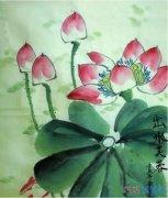 如何画国画中的出水莲花漂亮_荷花简笔画图片