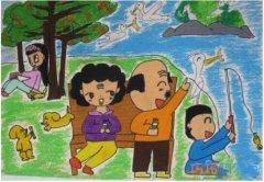 快乐重阳节儿童画怎么画好看_重阳节简笔画图片