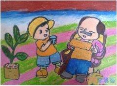 幼儿重阳节快乐怎么画_重阳节儿童简笔画图片