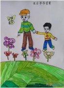 孝顺老人要怎么画简单好看_重阳节儿童简笔画图片