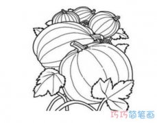 儿童卡通南瓜的画法简单素描_南瓜简笔画图片