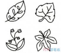 卡通秋天枫树落叶怎么画简单好看_秋天简笔画图片