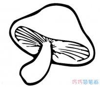 幼儿蘑菇要怎么画简洁好画_蘑菇简笔画图片