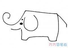 线条大象狮子老虎怎么画简单易学_动物简笔画图片