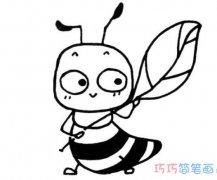 卡通蚂蚁的简单画法手绘_蚂蚁简笔画图片