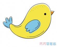 飞翔的小鸟怎么画涂颜色简单漂亮_小鸟简笔画图片