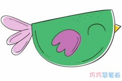 卡通小鸟涂色怎么画简单可爱_小鸟简笔画图片