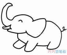 幼儿大象怎么画简单好看_大象的画法简笔画图片