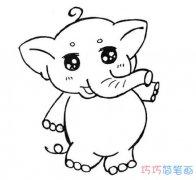 简单可爱小象怎么画手绘 大象的画法简笔画图片