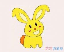 幼儿小白兔怎么画简单_彩色兔子简笔画图片