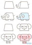 一组可爱动物怎么画简单好看_动物简笔画图片