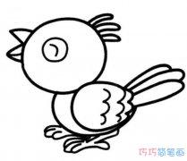 可爱小鸟的画法手绘简单 小鸟怎么画简笔画图片