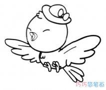 可爱小鸟的画法手绘简单可爱_卡通小鸟简笔画图片