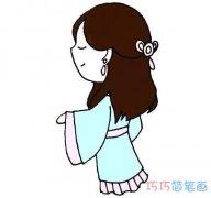 手绘小公主侧面画法简单漂亮_小公主简笔画图片