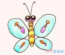 彩色蝴蝶怎么画简单漂亮_蝴蝶的画法简笔画图片
