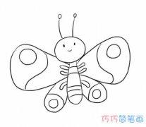 各种蝴蝶的画法手绘简单可爱_卡通蝴蝶简笔画图片