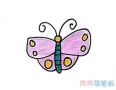 幼儿园涂色蝴蝶怎么画简单可爱_彩色蝴蝶简笔画图片