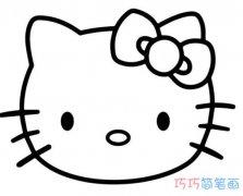 怎么画凯蒂猫头像简单可爱 kitty的画法简笔画图片