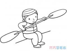 练习划船小男孩怎么画简单漂亮_素描小男孩简笔画图片