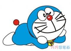 如何画机器猫简单可爱涂颜色_哆啦a梦的画法简笔画图片