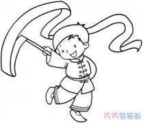 手舞足蹈小男孩如何画简单好看_小男孩简笔画图片
